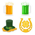 Set of St. Patrick's Day icons Stock Images