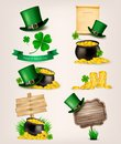Set of St. Patrick's Day related icons. Royalty Free Stock Photo