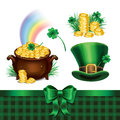 Set of St. Patrick's Day symbols, set of St. Patrick's Day icons Royalty Free Stock Photo