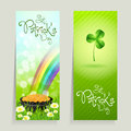 Set of St. Patricks Day Cards Royalty Free Stock Photography