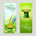 Set of St. Patricks Day Cards Stock Photography