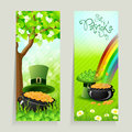 Set of St. Patricks Day Cards Royalty Free Stock Photos