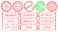 Set of stamps Royalty Free Stock Photos