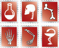 Set stamps - 92A. Medicine Stock Image