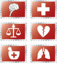 Set stamps - 92B. Medicine Stock Photo