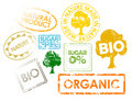 Set of stamps for organic food Royalty Free Stock Image