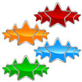A set of stars big on white background Royalty Free Stock Photo
