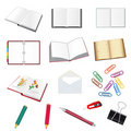 Set of stationery for the office Stock Photos
