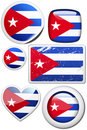 Set of stickers and buttons - cuba Royalty Free Stock Image