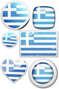 Set of stickers and buttons - Greece Stock Images