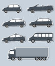 Set of stickers with car image Royalty Free Stock Photography