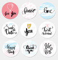 Set stickers wedding and love