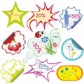 Set of stikers for sale Royalty Free Stock Photo