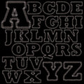 Set of stitches alphabet a z Stock Image