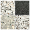 Set of Stone backgrounds Stock Photos