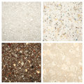 Set of Stone backgrounds Royalty Free Stock Photo