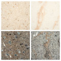 Set of stone backgrounds from four high definition Stock Photo