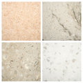Set of stone backgrounds from four high definition Royalty Free Stock Photo