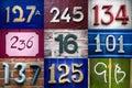 Set of street numbers