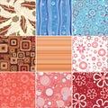 Set stylish  backgrounds. Royalty Free Stock Image