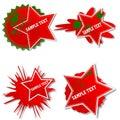 Set of Stylish grunge bubbles stickers. Royalty Free Stock Images