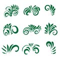 Set of stylized acanthus leaves for pattern