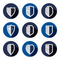 Set of stylized coat of arms, decorative defense shields set Royalty Free Stock Photo