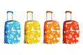 Set of suitcase with elements of travel Royalty Free Stock Photo