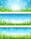Set of Summer Abstract Background. Stock Image