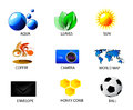 Set of summer icons Royalty Free Stock Photo