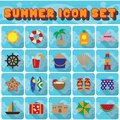 set of summer icons. Vector illustration decorative design Royalty Free Stock Photo
