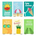 Set of Summer Poster Design. Vector illustrations for summer holiday, travel and vacation, restaurant and bar, menu, part and beac