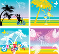 Set of summer, travel and vacations pictures Royalty Free Stock Photo