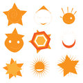 Set sun illustrations elements design Royalty Free Stock Photos