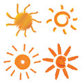 Set sun illustrations elements design Royalty Free Stock Image