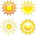 Set of sun images Royalty Free Stock Photo