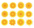 Set of sun vector Royalty Free Stock Photo