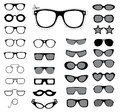 Set of sunglasses and glasses vector illustration Stock Photo