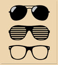 Set of sunglasses illustration background Stock Photos