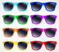 Set of sunglasses vector illustration background Royalty Free Stock Photo