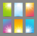 Set of sunny banners Royalty Free Stock Image