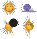 Set of suns Royalty Free Stock Photo