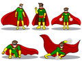Set of superhero an illustration a Stock Images