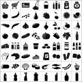 Set of supermarket symbols vector illustration Royalty Free Stock Image