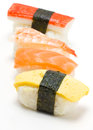 Set of sushi isolated on white Royalty Free Stock Image