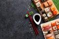 Set of sushi and maki Royalty Free Stock Photo