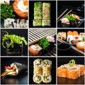 Set of sushi Royalty Free Stock Photo