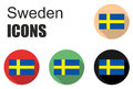 Set sweden icons Royalty Free Stock Photo