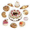 Set Of Sweet Buns And Cakes. V...