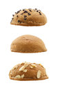 Set of sweet buns isolated on white background mexican coffee Royalty Free Stock Images